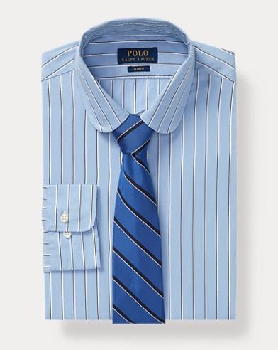 폴로 랄프로렌 Polo Ralph Lauren Slim Fit Striped Shirt,Slate Blue-navy