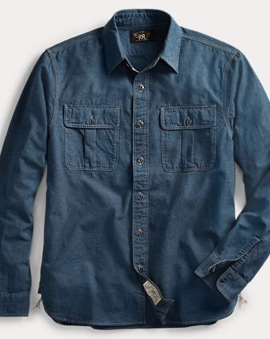 폴로 랄프로렌 Polo Ralph Lauren Indigo Chambray Workshirt,Rl 108 Blue