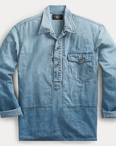 폴로 랄프로렌 Polo Ralph Lauren Indigo Denim Shirt,Jason Wash