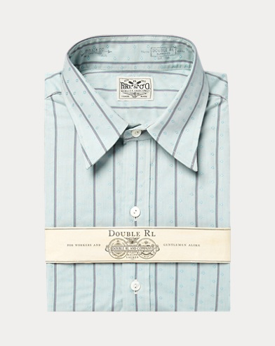 폴로 랄프로렌 Polo Ralph Lauren Eli Striped Dobby Shirt,Rl 127 Turquoise Multi