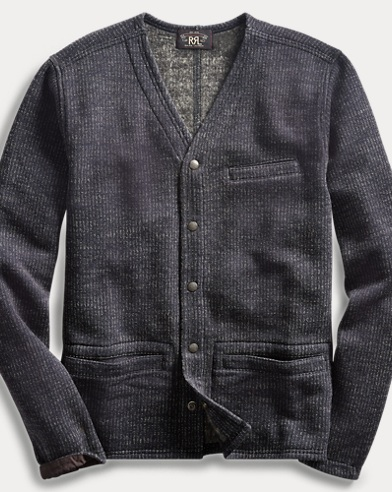 폴로 랄프로렌 Polo Ralph Lauren Cotton-Blend-Fleece Cardigan,Navy Multi