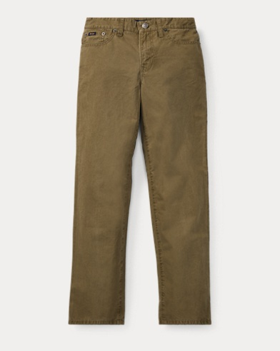 폴로 랄프로렌 보이즈 바지 올리브 Polo Ralph Lauren Varick Slim Fit Cotton Pant,Basic Olive