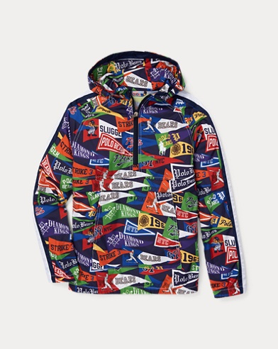 폴로 랄프로렌 보이즈 파카 Polo Ralph Lauren Packable Pullover Anorak,Art Deco Pennant
