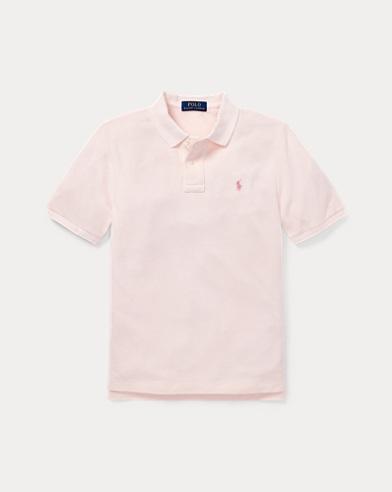 폴로 랄프로렌 Polo Ralph Lauren Pink Pony Cotton Mesh Polo,Taylor Rose