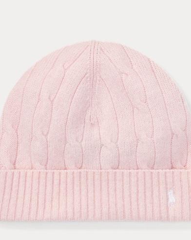 폴로 랄프로렌 보이즈 울 캐시미어 꽈배기니트 비니 모자 핑크 Polo Ralph Lauren Cable-Knit Wool-Cashmere Hat,Hint Of Pink