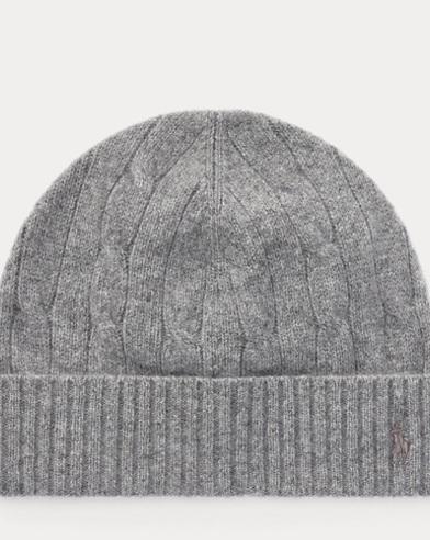 폴로 랄프로렌 보이즈 울 캐시미어 꽈배기니트 비니 모자 그레이 Polo Ralph Lauren Cable-Knit Wool-Cashmere Hat,Grey Heather