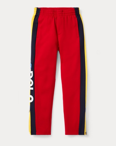 폴로 랄프로렌 보이즈 바지 레드 Polo Ralph Lauren Hi Tech Double-Knit Pant,Polo Sport Red Multi