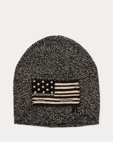 폴로 랄프로렌 보이즈 성조기 비니 모자 블랙 래그 Polo Ralph Lauren Intarsia-Knit-Flag Hat,Black Ragg