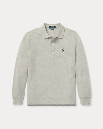 폴로 랄프로렌 보이즈 긴팔 카라티 그레이 Polo Ralph Lauren Cotton Mesh Polo Shirt,Andover Heather