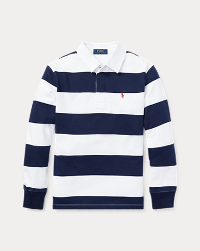 폴로 랄프로렌 보이즈 긴팔 카라티 네이비 Polo Ralph Lauren Striped Jersey Rugby Shirt,French Navy
