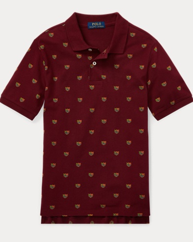 폴로 랄프로렌 보이즈 반팔 카라티 와인 Polo Ralph Lauren Featherweight Cotton Mesh Polo,Classic Wine Multi