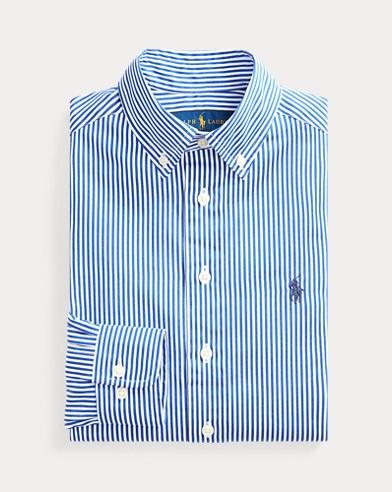 폴로 랄프로렌 보이즈 드레스 셔츠 네이비 Polo Ralph Lauren Slim Fit Cotton Dress Shirt,Navy Multi