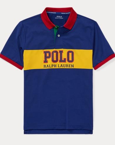 폴로 랄프로렌 보이즈 반팔 카라티 Polo Ralph Lauren Performance Lisle Polo Shirt,Sporting Royal Multi