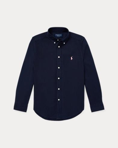 폴로 랄프로렌 보이즈 옥스포드 셔츠 네이비 Polo Ralph Lauren Pink Pony Cotton Oxford Shirt,RL Navy