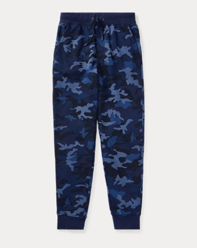 폴로 랄프로렌 보이즈 조거 팬츠 블루 카모 Polo Ralph Lauren Camo Cotton-Blend Terry Jogger,Blue Camo