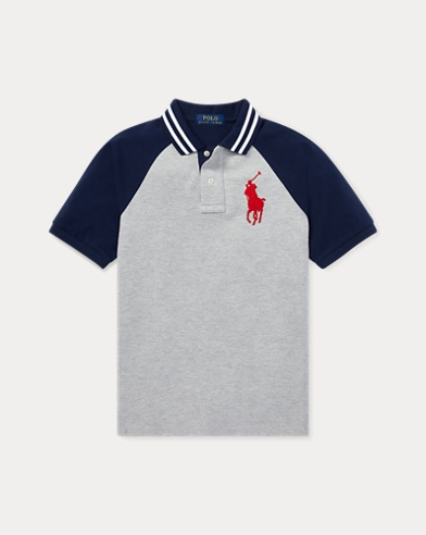 폴로 랄프로렌 보이즈 반팔 카라티 그레이 Polo Ralph Lauren Cotton Mesh Polo Shirt,Andover Heather