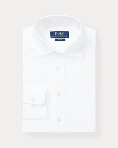 폴로 랄프로렌 보이즈 셔츠 Polo Ralph Lauren Slim Fit Cotton Dress Shirt,White