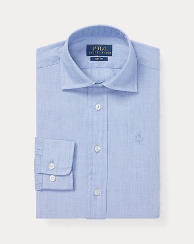 폴로 랄프로렌 보이즈 드레스 셔츠 블루 Polo Ralph Lauren Slim Fit Cotton Dress Shirt,Blue
