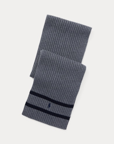 폴로 랄프로렌 보이즈 스카프 그레이 Polo Ralph Lauren Ribbed Merino Wool Scarf, Medium Grey Heather
