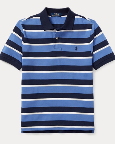 폴로 랄프로렌 보이즈 반팔 카라티 블루 멀티 Polo Ralph Lauren Featherweight Cotton Mesh Polo,Resort Blue Multi