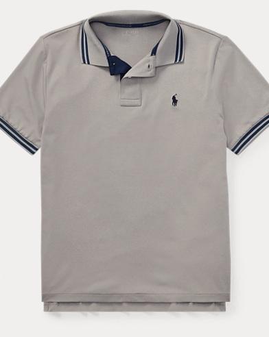 폴로 랄프로렌 보이즈 반팔 카라티 그레이 Polo Ralph Lauren Performance Lisle Polo Shirt,Light Grey Heather