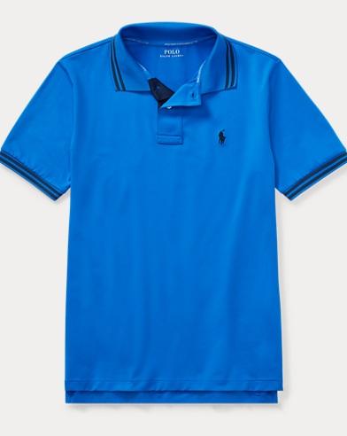 폴로 랄프로렌 보이즈 반팔 카라티 블루 Polo Ralph Lauren Performance Lisle Polo Shirt,Spa Royal