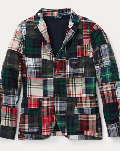 폴로 랄프로렌 보이즈 코트 Polo Ralph Lauren Morgan Madras Sport Coat,Patchwork