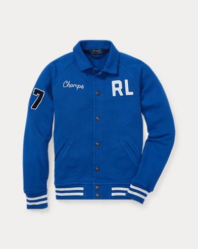 폴로 랄프로렌 Polo Ralph Lauren Cotton French Terry Jacket,Sapphire