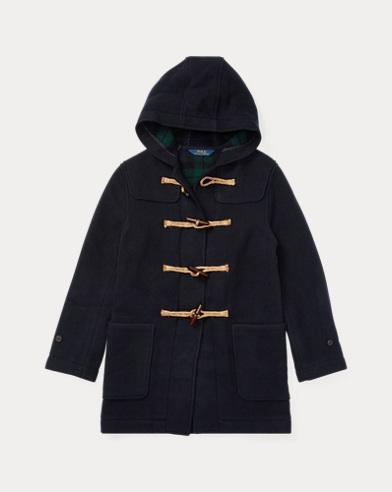 폴로 랄프로렌 보이즈 울 혼방 토글 떡볶이 코트 네이비 Polo Ralph Lauren Wool-Blend Hooded Toggle Coat, Piper Navy