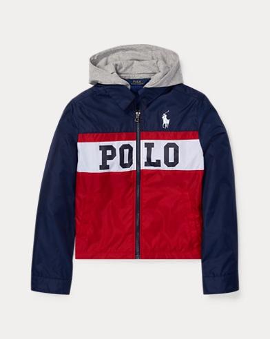 폴로 랄프로렌 Polo Ralph Lauren Graphic Hooded Jacket,Ralph Red