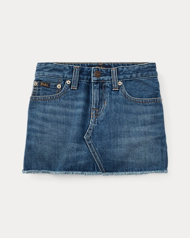 폴로 랄프로렌 Polo Ralph Lauren Denim 5-Pocket Skirt,Wash