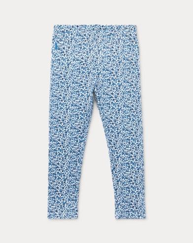 폴로 랄프로렌 여아용 레깅스 화이트/블루 Polo Ralph Lauren Floral Jersey Legging,White/Blue Multi