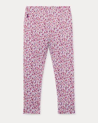 폴로 랄프로렌 여아용 레깅스 화이트/퍼플 Polo Ralph Lauren Floral Jersey Legging,White/Purple Multi