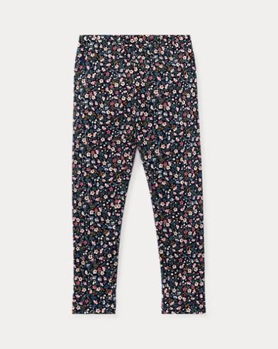 폴로 랄프로렌 여아용 레깅스 네이비/핑크 Polo Ralph Lauren Floral Jersey Legging,Navy/Pink Multi