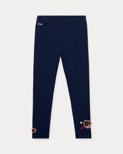 폴로 랄프로렌 여아용 레깅스 네이비 Polo Ralph Lauren Patchwork Jersey Legging,French Navy