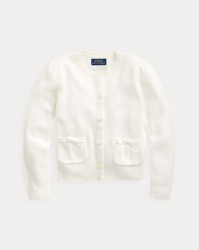 폴로 랄프로렌 여아용 가디건 Polo Ralph Lauren Cashmere Cardigan,Warm White