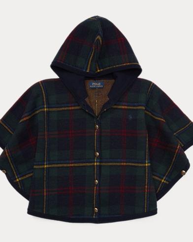 폴로 랄프로렌 여아용 스웨터 네이비 Polo Ralph Lauren Plaid Hooded Poncho Sweater,Navy Plaid
