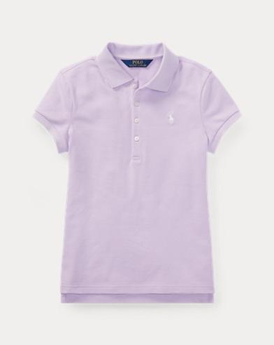 폴로 랄프로렌 여아용 반팔 카라티 라일락 Polo Ralph Lauren Stretch Pique Polo Shirt,French Lilac