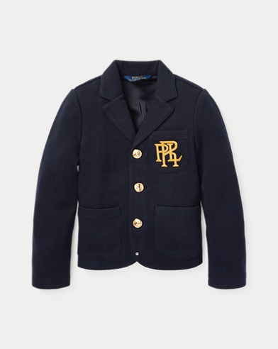 폴로 랄프로렌 여아용 블레이저 Polo Ralph Lauren Knit Cotton-Blend Blazer,Aviator Navy