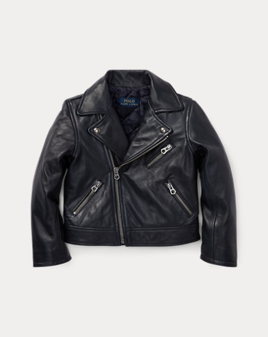 폴로 랄프로렌 여아용 자켓 네이비 Polo Ralph Lauren Leather Moto Jacket,French Navy