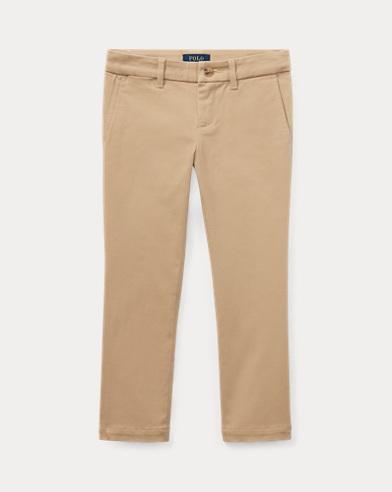 폴로 랄프로렌 여아용 바지 카키 Polo Ralph Lauren Stretch Cotton Chino,Classic Khaki