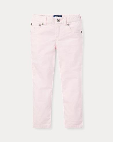 폴로 랄프로렌 여아용 스키니 팬츠 핑크 Polo Ralph Lauren Corduroy Skinny Pant,Morning Pink