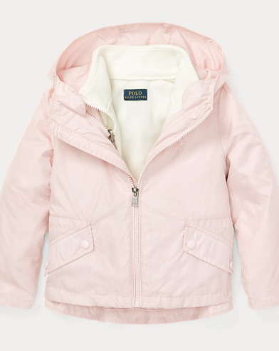 폴로 랄프로렌 여아용 자켓 핑크 Polo Ralph Lauren 3-in-1 Nylon Jacket,Hint Of Pink