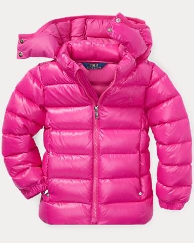 폴로 랄프로렌 여아용 후드 다운 자켓 핑크 Polo Ralph Lauren Hooded Down Jacket,Active Pink