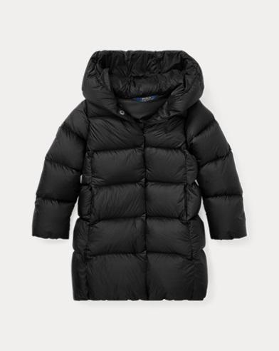 폴로 랄프로렌 여아용 650필 파워 롱 패딩 블랙 Polo Ralph Lauren Long Hooded Down Jacket, Polo Black 443474
