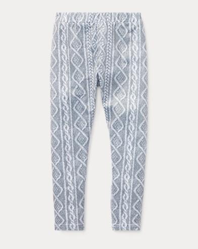 폴로 랄프로렌 여아용 레깅스 그레이/라이트 그레이  Polo Ralph Lauren Cable Stretch Jersey Legging,Grey/Light Grey Multi
