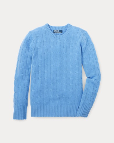 폴로 랄프로렌 남아용 꽈배기 스웨터 Polo Ralph Lauren Cable-Knit Cashmere Sweater,New Litchfield