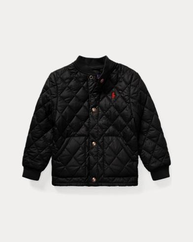폴로 랄프로렌 남아용 퀼팅 야구 자켓 블랙 Polo Ralph Lauren Quilted Baseball Jacket,Polo Black