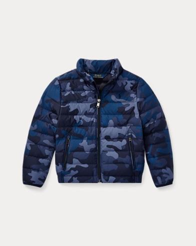 폴로 랄프로렌 남아용 파카 네이비 카모 Polo Ralph Lauren Packable Camo Down Jacket,Navy Camo