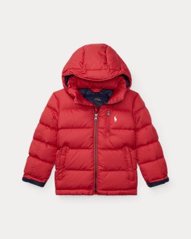 폴로 랄프로렌 남아용 650필 파워 립스탑 근육 패딩 레드 Polo Ralph Lauren Quilted Ripstop Down Jacket,Polo Sport Red